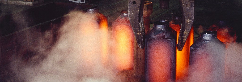 Glowing Ingot Steel in a Metalurgical Industry